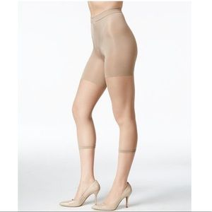 SPANX Footless Power Tights Capri Nude Size E